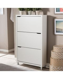 DIXONS 3 DOOR SHOE CABINET GREY