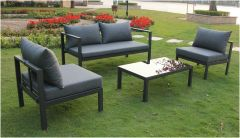 Mumbai Sofa Set Anthracite