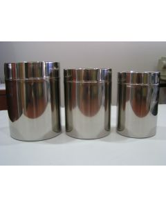 18/8 canister set of 3 pcs