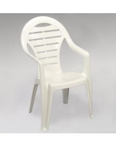 OCEAN WHITE HIGH BACK STACKABLE CHAIR