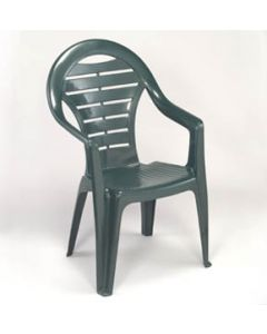 GREEN HIGH BACK STACKABLE CHAIR