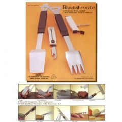 DELUXE STAINLESS STEEL BBQ TOOL WITH  CORK SCREW AND OTHER ACCESSORIES