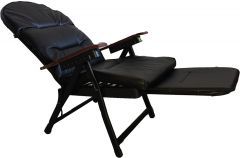 FOLDING CHAIR WITH FOOTREST BROWN