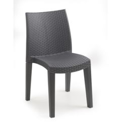 Lady stackable rattan style chair Anthracite