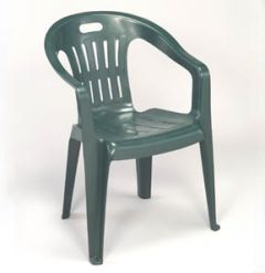 GREEN LOW BACK STACKABLE CHAIR