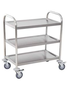 S/S SERVING TROLLEY 3 TIER